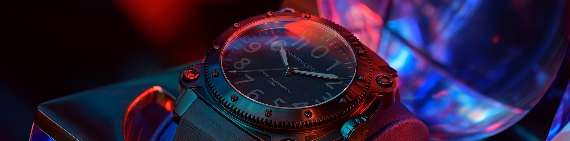 Hamilton Khaki Navy BeLOWZERO Titanium TENET Blue H78505331 Packaging