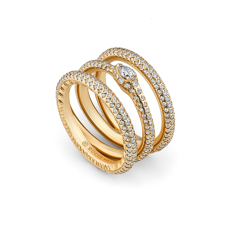 Gucci Fine Jewellery Ouroboros YBC553912001 Fashion Ring