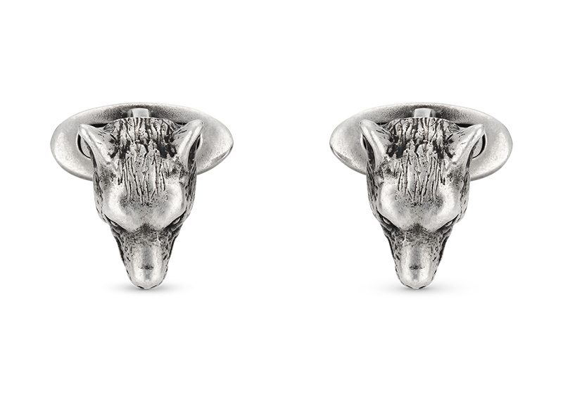 Gucci Silver Anger Forest YBE524075001 Cufflinks