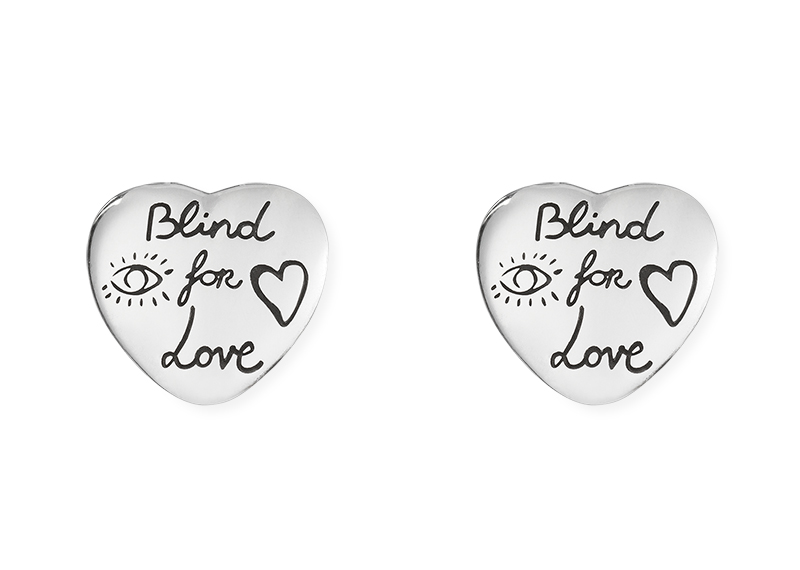 Gucci Silver Blind for Love YBD455255001 Earrings
