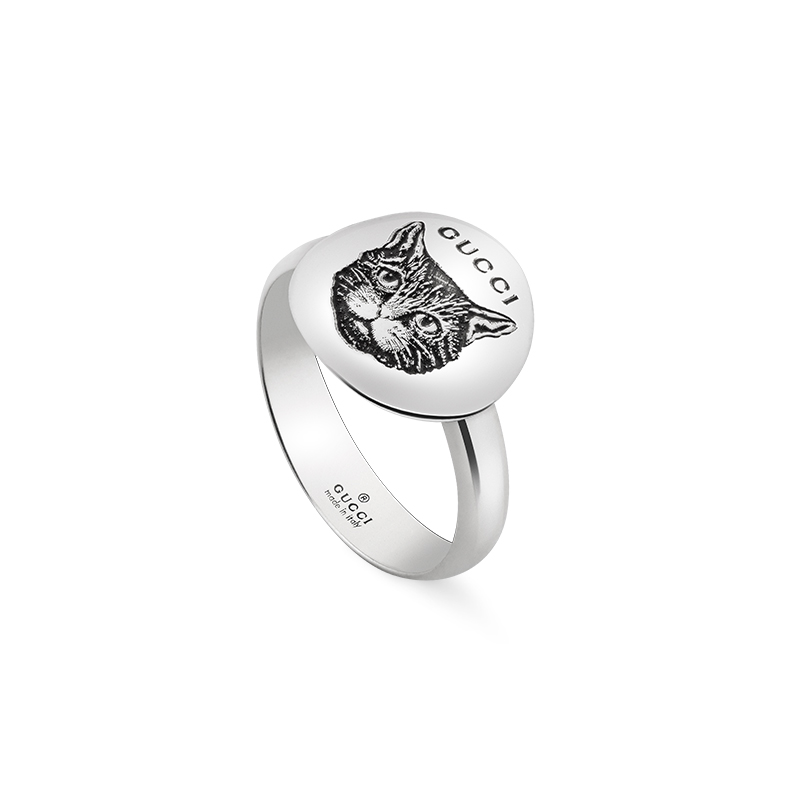 Gucci Silver Blind for Love YBC502135001 Fashion Ring