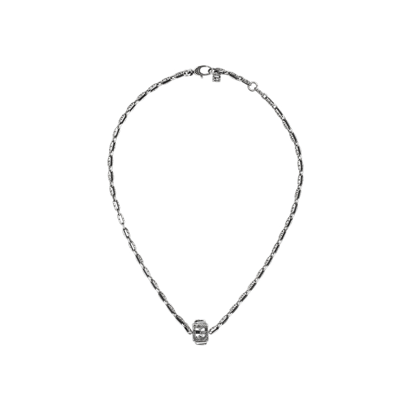Gucci Silver G Cube YBB550926001 Necklace