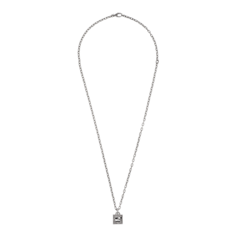 Gucci Silver G Cube YBB552768001 Necklace