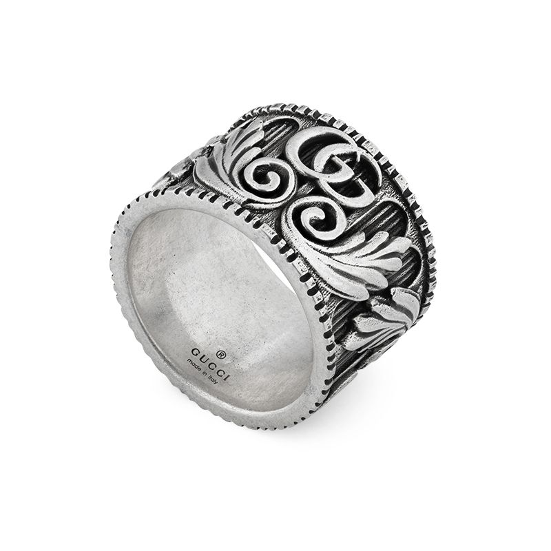 Gucci Silver GG Marmont YBC551895001 Fashion Ring