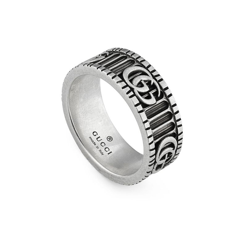Gucci Silver GG Marmont YBC551899001 Fashion Ring