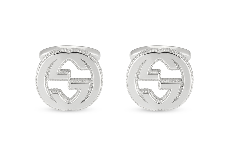 Gucci Silver Interlocking G YBE499010001 Cufflinks