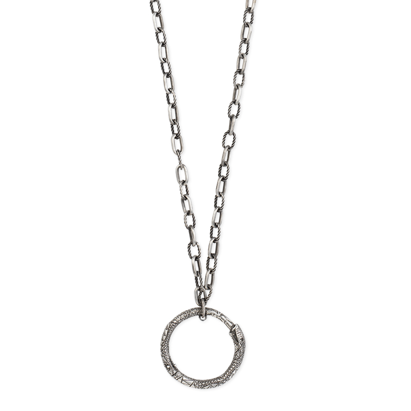 Gucci Silver Ouroboros YBB524602001 Necklace