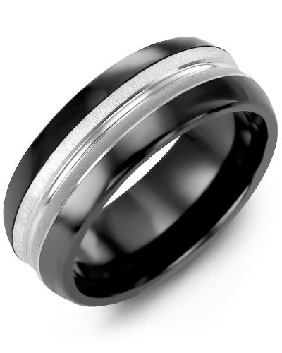 Madani Convex Centre Multi-Textured Wedding Band  MFM810JW Men's & women's Weddi
