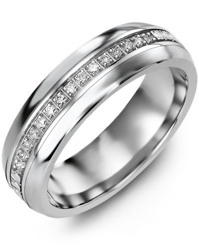 Madani Eternity Diamond Wedding Ring MFB610LW-15R Men's & women's Wedding band