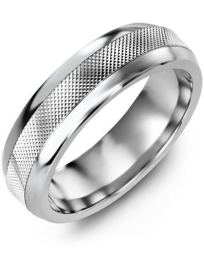 Madani Classic Diamond Cut Wedding Ring MFG610AW Men's & women's Wedding band