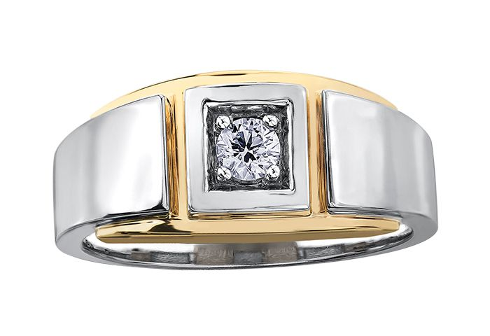 Maple Leaf Diamonds I Am Canadian R6843WY/20-10 Gents Fashion Ring