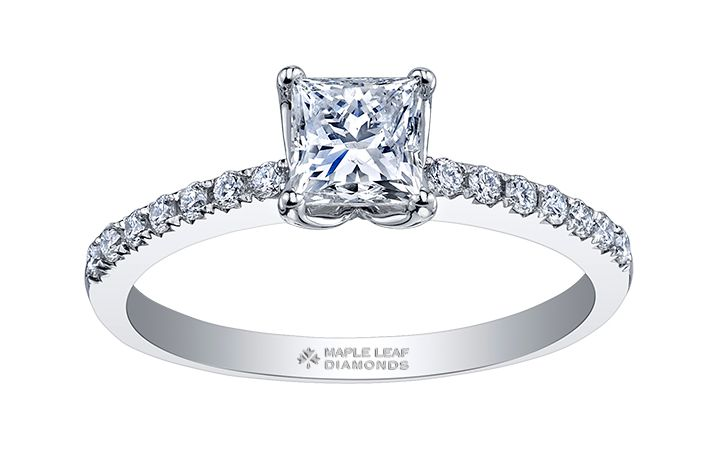Maple Leaf Diamonds Timeless Beauty R30063WG/47-18 Ladies Engagement Ring