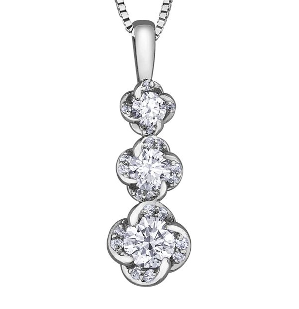 Maple Leaf Diamonds Wind's Embrace PP3783W/33C-18 Ladies Pendant