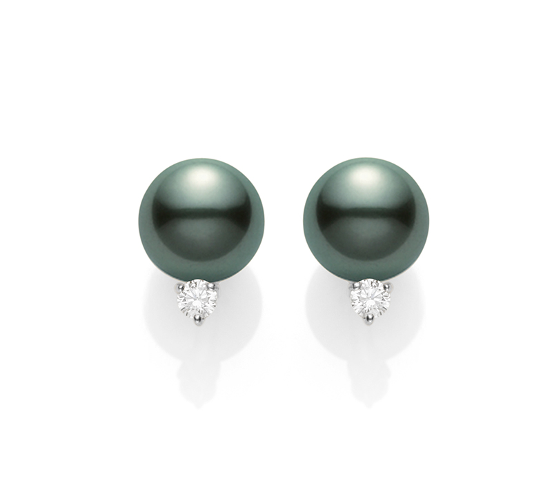 Mikimoto Basic SS Stud PES1202BDW Earrings