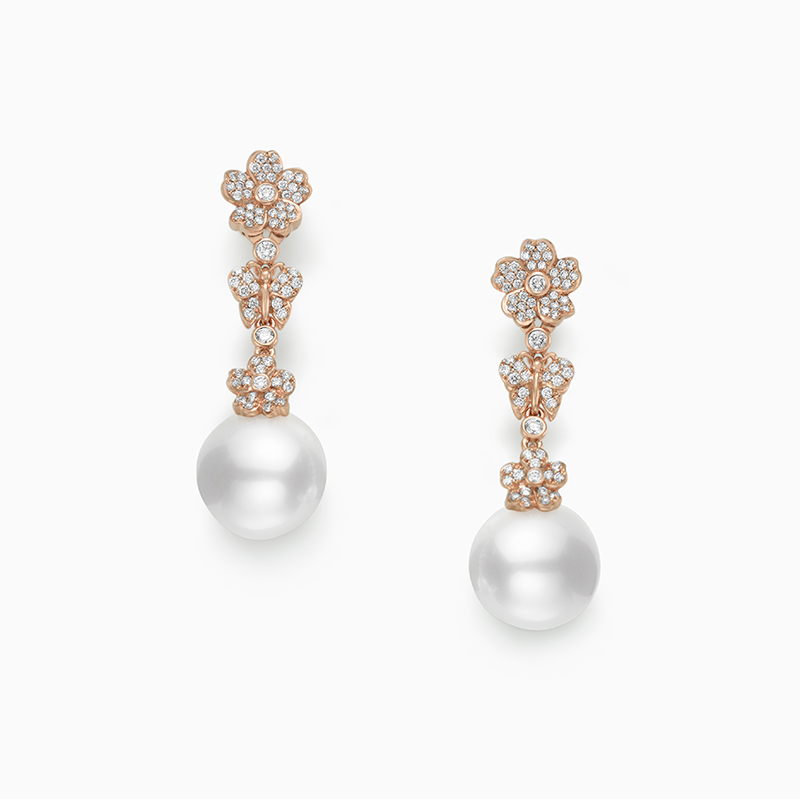 Mikimoto Cherry Blossom MEA10260NDXZ Earrings