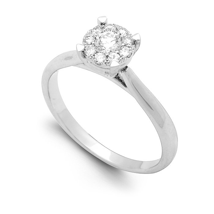 Monaco Collection Engagement Ring AN693-W Women's Engagement Ring