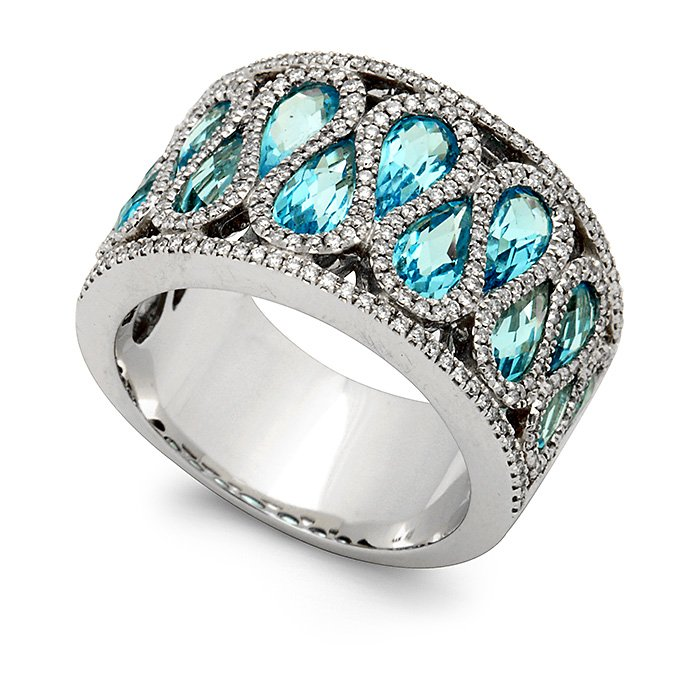 Monaco Collection Ring AN605-BTW Women's Fashion Ring