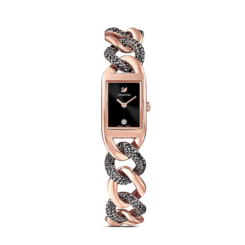 Swarovski Cocktail Watch Metal bracelet Black Rose-gold tone PVD 5519324 Jewelry Watch - La Maison Monaco