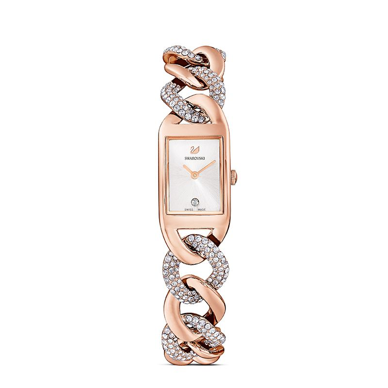 Swarovski Cocktail Watch Metal bracelet Rose gold tone Rose-gold tone PVD 5519327 Jewelry Watch - La Maison Monaco