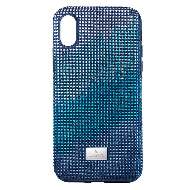Swarovski Crystalgram Smartphone Case with Bumper iPhone® X/XS Blue 5532209 Mobile Accessories - La Maison Monaco