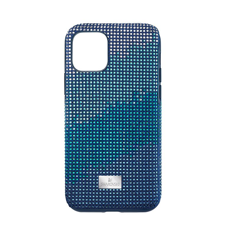 Swarovski Crystalgram Smartphone Case with Bumper iPhone® 11 Pro Blue 5533958 Mobile Accessories - La Maison Monaco