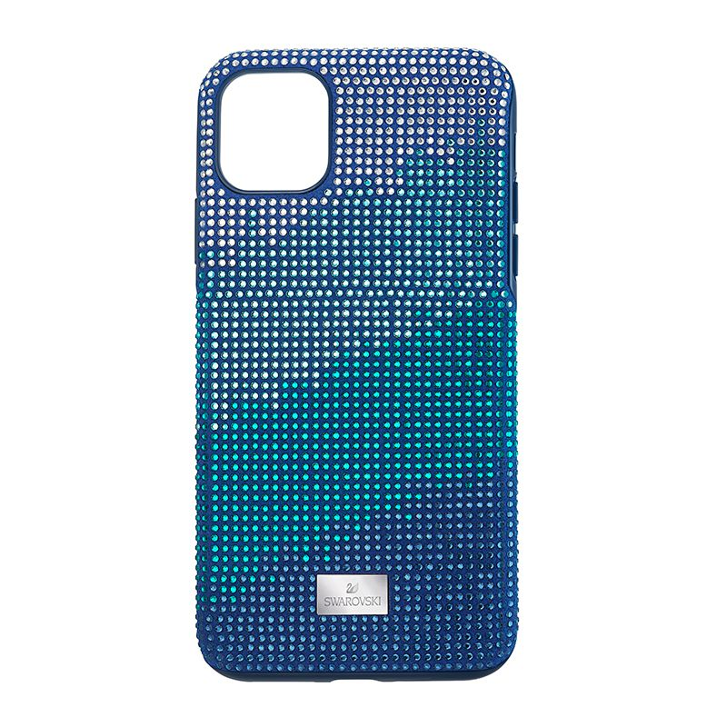 Swarovski Crystalgram Smartphone Case with Bumper iPhone® 11 Pro Max Blue 5533965 Mobile Accessories - La Maison Monaco