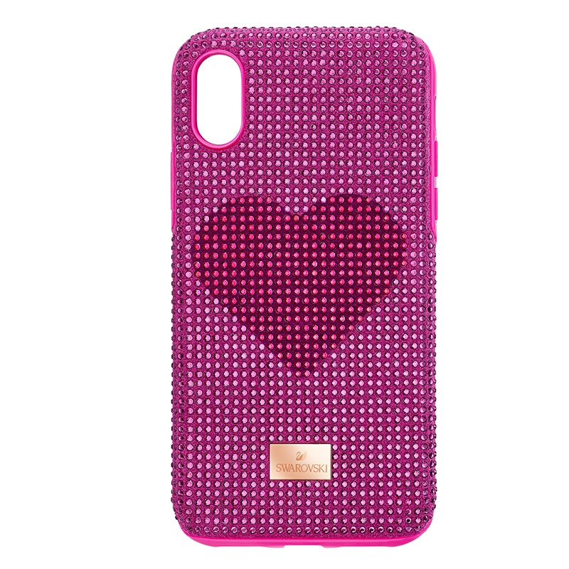 Swarovski Crystalgram Heart Smartphone Case with Bumper iPhone® XS Max Pink 5540720 Mobile Accessories - La Maison Monaco