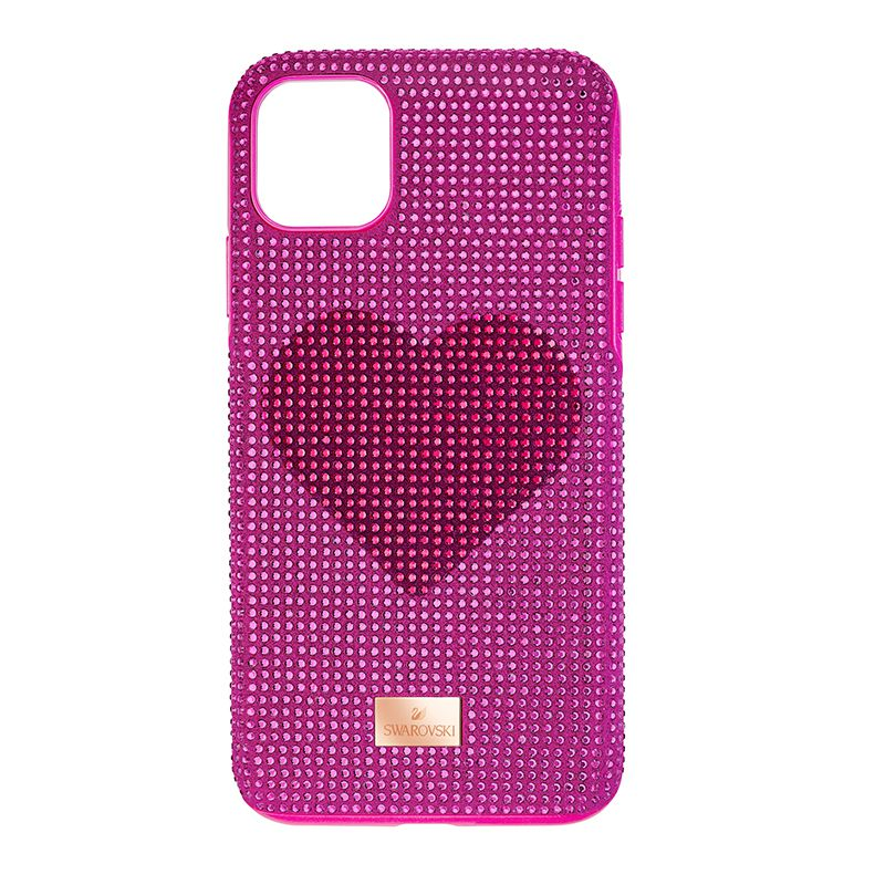 Swarovski Crystalgram Heart Smartphone Case with Bumper iPhone® 11 Pro Max Pink 5540722 Mobile Accessories - La Maison Monaco