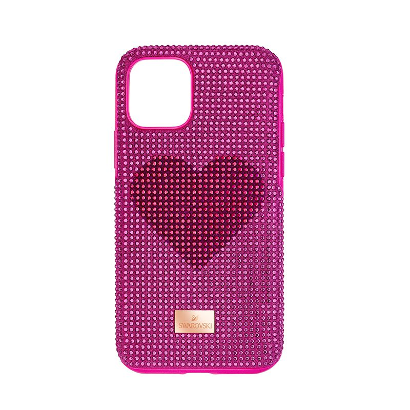 Swarovski Crystalgram Heart Smartphone Case with Bumper iPhone® 11 Pro Pink 5540723 Mobile Accessories - La Maison Monaco
