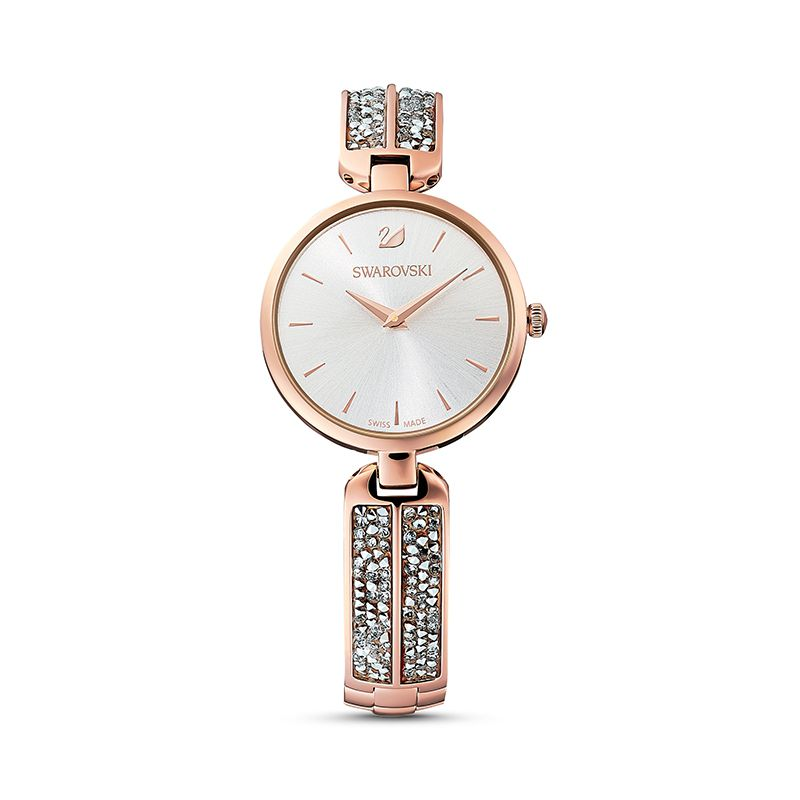 Swarovski Dream Rock Watch Metal Bracelet Silver tone Rose-gold tone PVD 5519306 Crystal Rock - La Maison Monaco