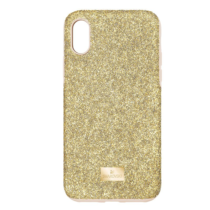 Swarovski High Smartphone Case with Bumper iPhone® X/XS Gold tone 5522086 Mobile Accessories - La Maison Monaco