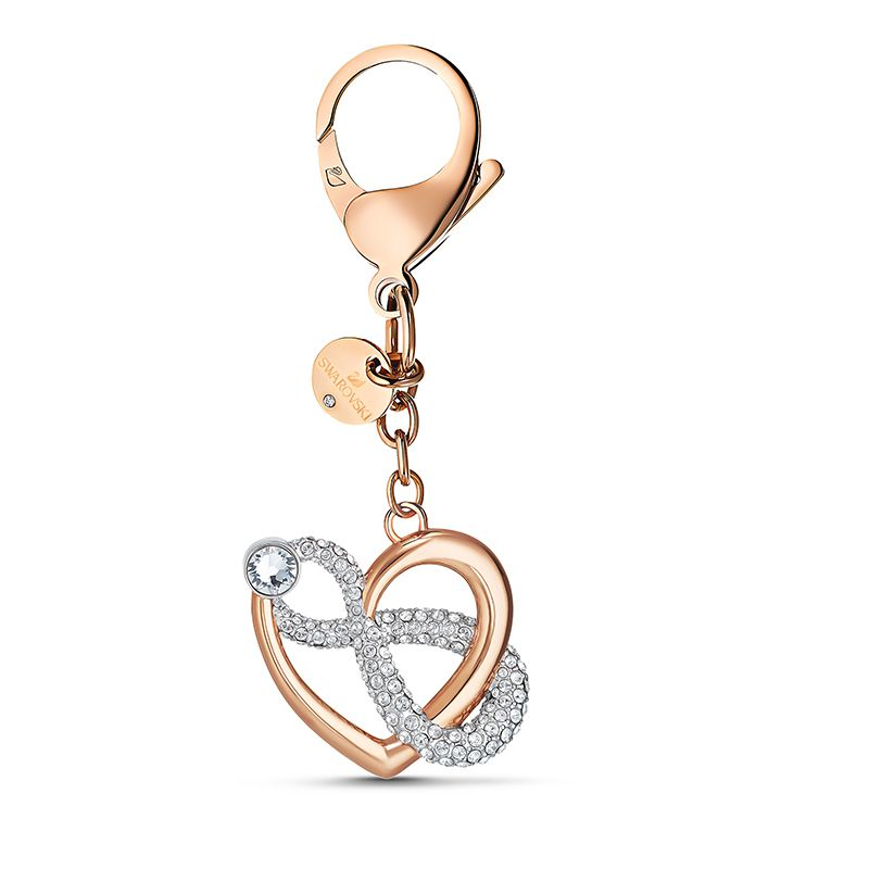 Swarovski Infinite Bag charm White Rose-gold tone plated 5530885 Small Accessories - La Maison Monaco