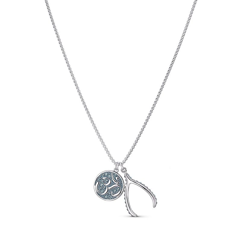 Swarovski Sand Pendant Blue Rhodium plated 5535712 Necklace - La Maison Monaco