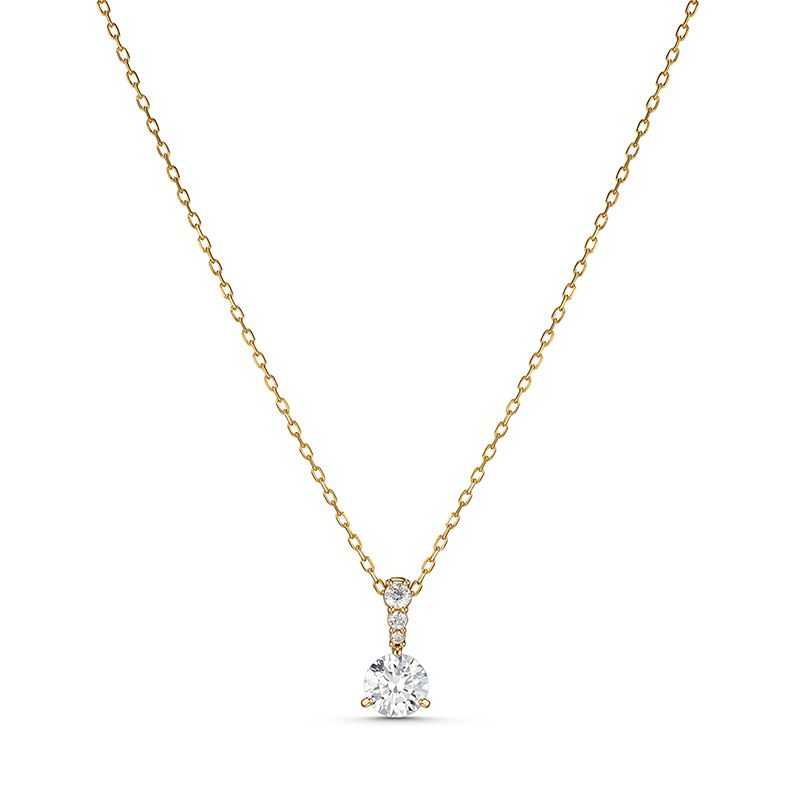 Swarovski Solitaire Pendant White Gold-tone plated 5511557 Necklace - La Maison Monaco