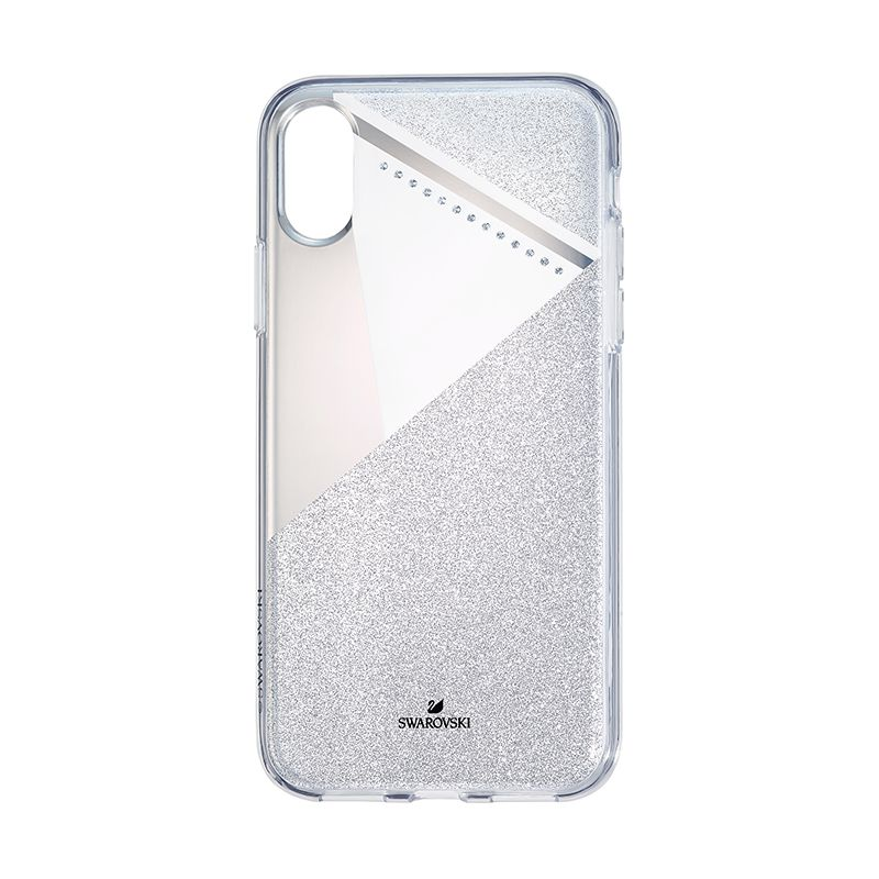 Swarovski Subtle Smartphone Case with Bumper iPhone® X/XS Silver tone 5522076 Mobile Accessories - La Maison Monaco