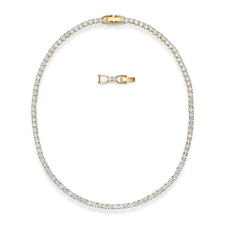 Swarovski Tennis Deluxe Necklace White Gold-tone plated 5511545 Necklace - La Maison Monaco