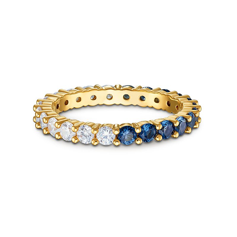 Swarovski Vittore Half XL Ring Blue Gold-tone plated 5511562 Ring - La Maison Monaco
