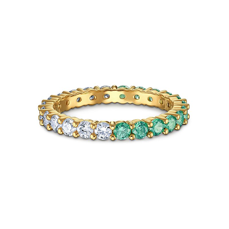 Swarovski Vittore Half Ring Green Gold-tone plated 5522882 Ring - La Maison Monaco