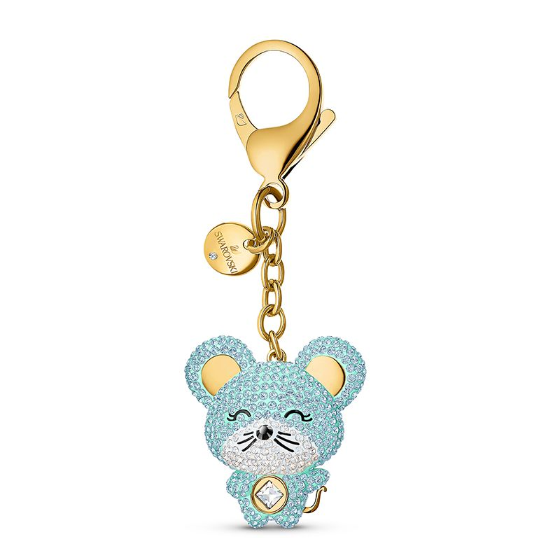 Swarovski Zodiac Bag charm Light multi-colored Gold-tone plated 5522153 Small Accessories - La Maison Monaco