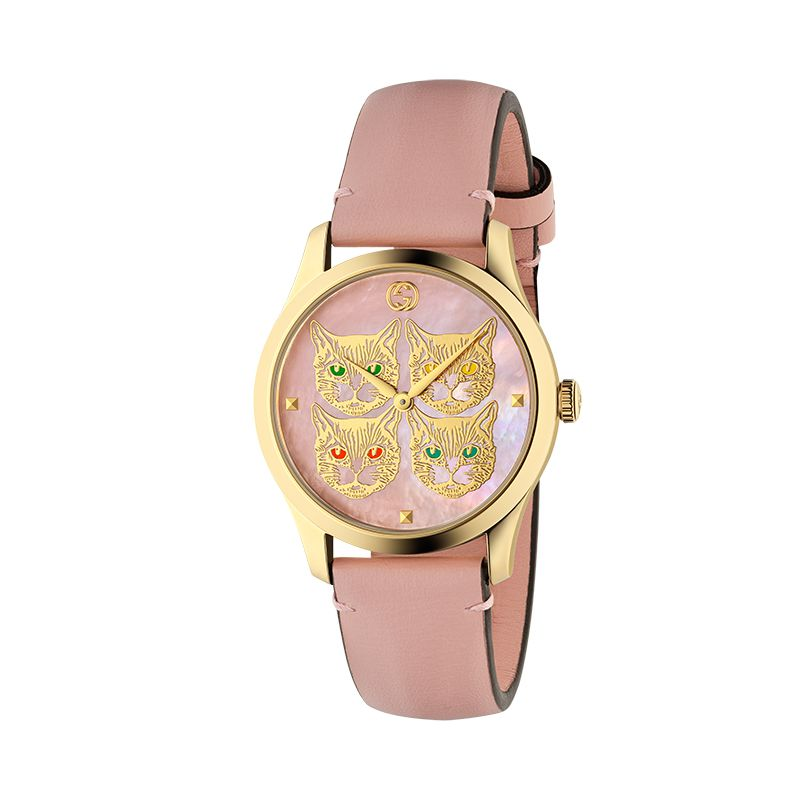 Gucci Timepieces G-Timeless Engraved YA1264132 Woman Watch