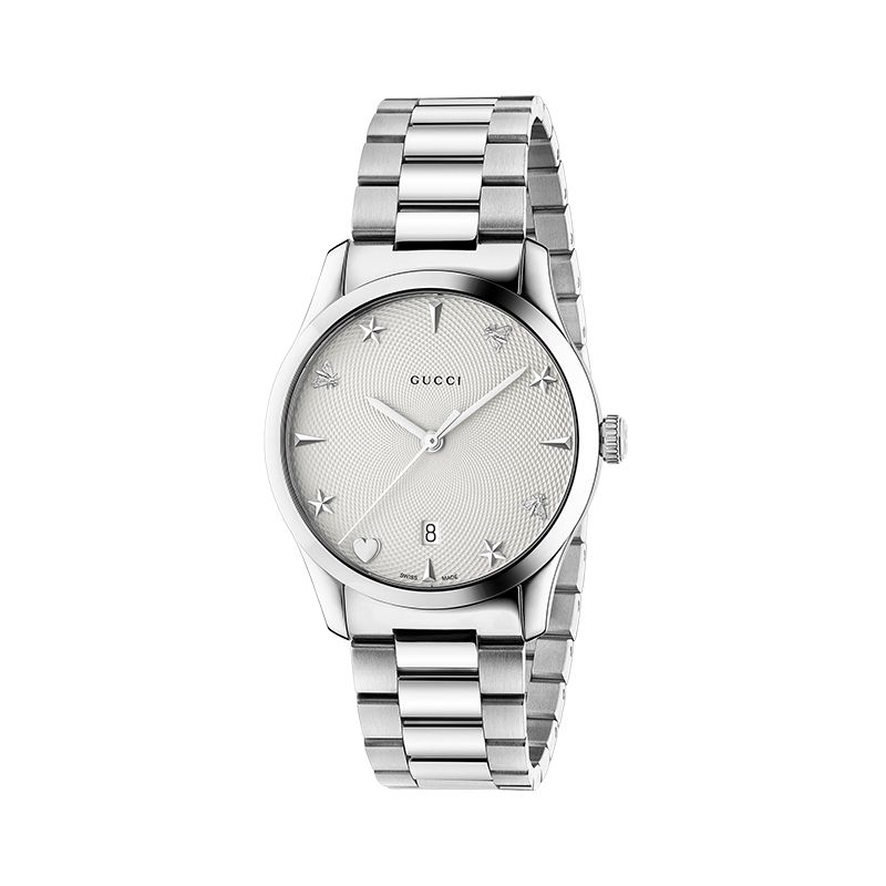 Gucci Timepieces G-Timeless Engraved YA1264028A Unisex Watch