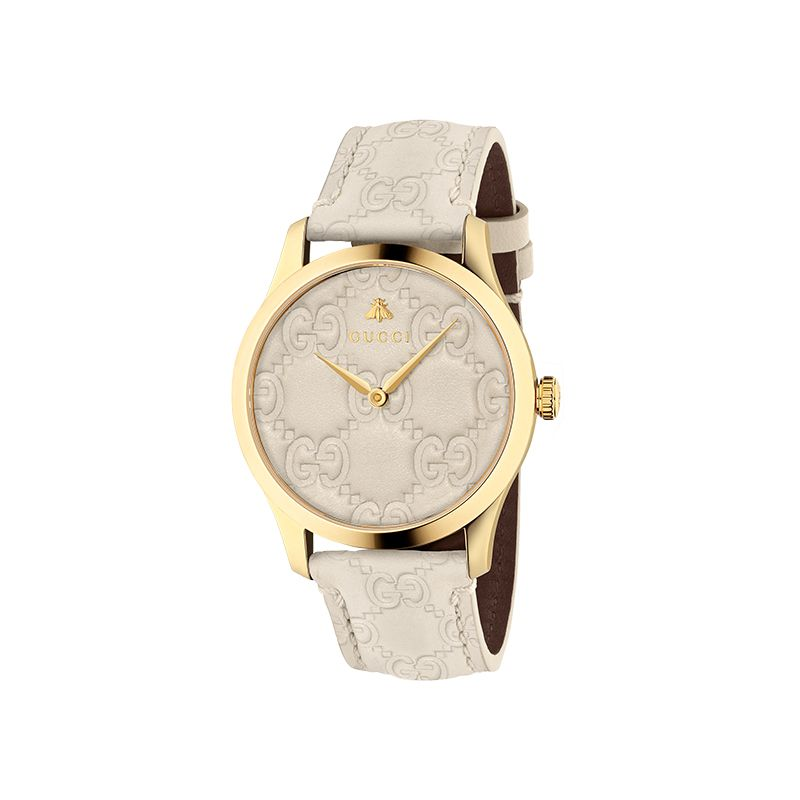 Gucci Timepieces G-Timeless Engraved YA1264033A Woman Watch