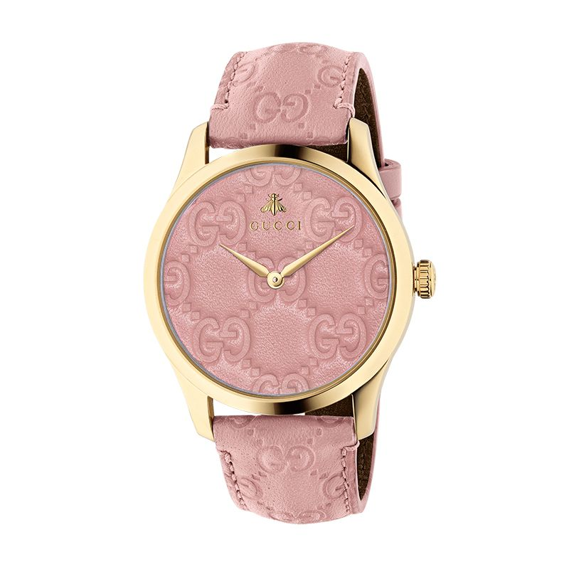 Gucci Timepieces G-Timeless Engraved YA1264104 Woman Watch
