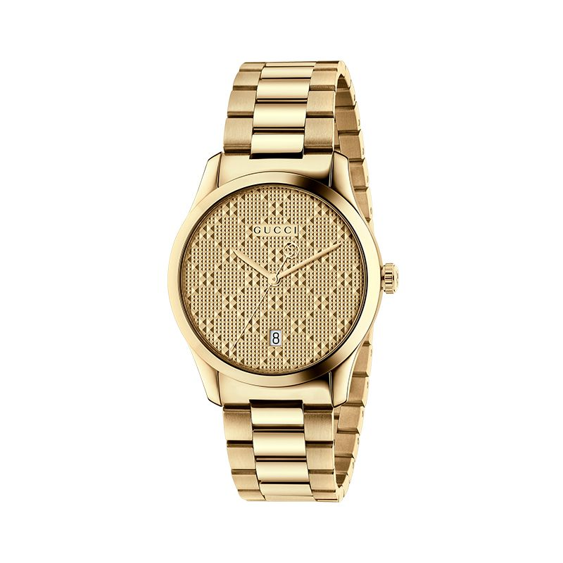 Gucci Timepieces G-Timeless Engraved YA126461A Unisex Watch