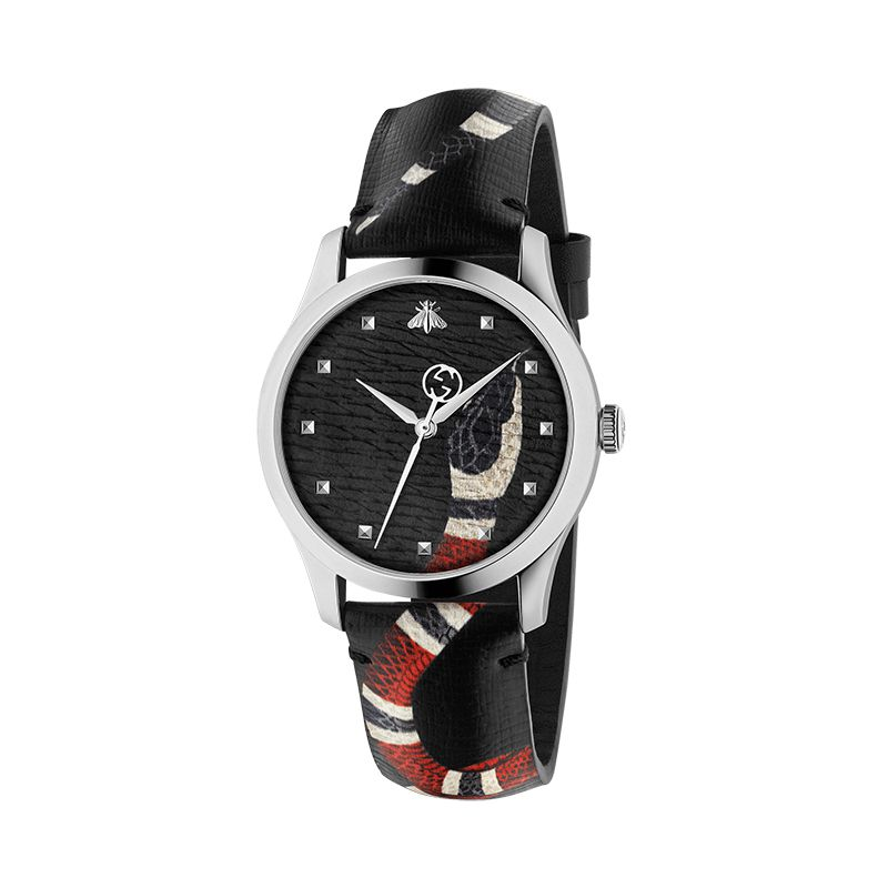 Gucci Timepieces G-Timeless Engraved YA1264007A Unisex Watch